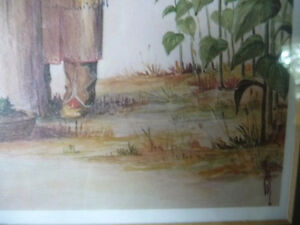 "Iroquois Artist Lithograph, Ernest Smith ""Making SunFlower Oil"" Stratford Kitchener Area image 4"