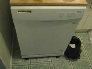 almost new Whirlpool portable dishwasher