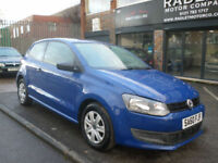 2010 Volkswagen Polo 1.2 ( 60ps ) S 3DR 60 REg Petrol Blue