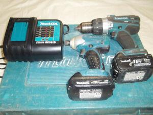 Makita 18v Hammer drill and impact driver combo