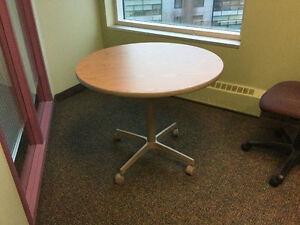 Commercial grade small round table