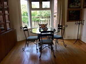 Wrought Iron Dinette Suite