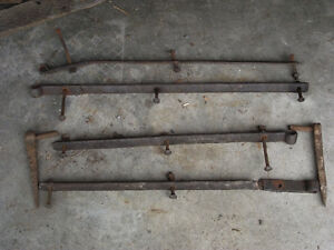 Antique Blacksmith Hand Forged Barn Door Hinges