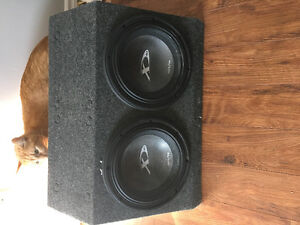 Alpine speakers, amp and subs, pioneer deck, all the wires