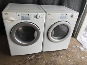 """Inglis white 27"""" front load washer electric dryer stackable"""
