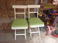 Indoor/outdoor folding chairs