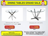 DINING TABLES ON SALE IN TORONTO MODERN GLASS N WOOD NEW IN BOX