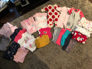 Baby girl clothing lot fall/winter. 0-3 months