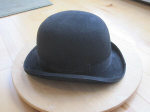Black Derby Bowler Hat