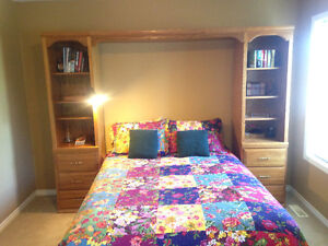 Moving Selling bed tower, Valence and double dresser
