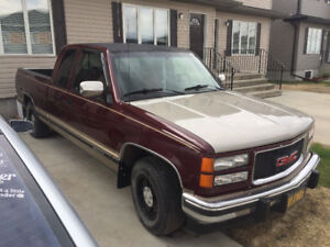 1994 GMC Sierra SLE. Ext Cab. NO RUST. WILL TRADE