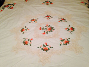 Cutwork and applica duvet cover