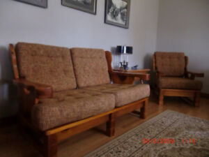 Small Sofa  or Love Seat  & Matching Chair (Newly Upholstery)