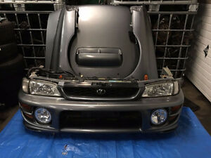 JDM SUBARU IMPREZA WRX STi FRONT CONVERSION HEADLIGHT HOOD