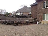 Stepped Gardens, Retaining Walls and Re-Grading