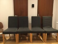 4 IKEA HENRIKSDAL DINING CHAIRS