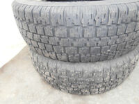 2 bf goodrich tires size 175/60/14 still good for 1.5 winters a