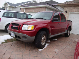 2004 ford explore trucker pick up truck red four door V6 auto lo