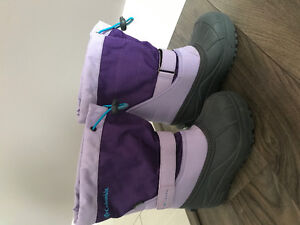3 pairs of girls rainboots and winter boots