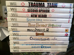 Miscellaneous Wii games for sale - Trauma Center, Rune Factory