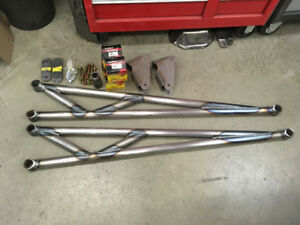 4x4 parts, traction bars and high steer arms
