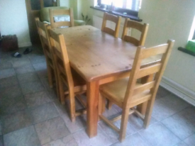 Dining table and 6 x chairs