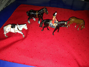 2 CAST IRON MINIATURE HORSES  - PARKER PICKERS -