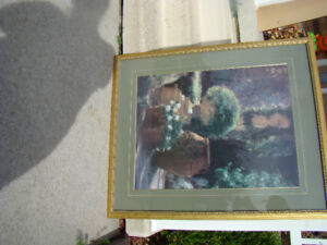 Beautiful Large Picture With Glass and Frame