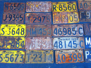 COOL OLD LICENSE PLATE FOR SHOP, MAN CAVE OR SIGN DECOR Only $10