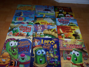 15 hardcovers books - VEGGIE TALES - VALUES TO GROW BY