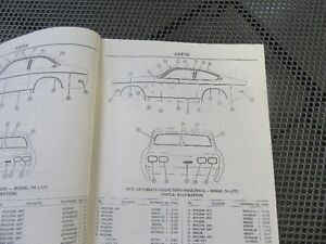 1973   to 1977  Astre or Vega  parts manual  GM Prince George British Columbia image 3