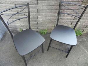 FS:  Two sturdy metal chairs.