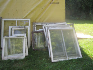 15 old wooden Windows $20 for them all
