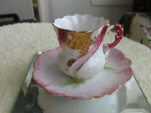 ADORABLE OLD VINTAGE DECORATIVE MINITURE CHINA CUP & SAUCER
