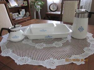 "Vintage Corningware ""Blue Cornflower"" 4 Pieces......"