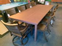 Ensemble de table a diner jardin patio grande pour 10 -ALUMINIUM