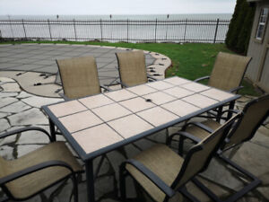 Large Patio Table w/ Six Chairs