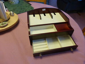 Burgundy Finished Wooden Jewellery Box