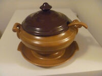 4 Piece Asake Stoneware Crock And Server