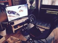 Xbox one Steering Wheel + pedals + Racing Chair + Forza Horizon 3