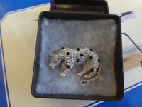 Vintage/Antique Gold/Silver Panther Pin/Brooch