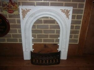 Antique Victorian fireplace insert and grate St. John's Newfoundland image 1