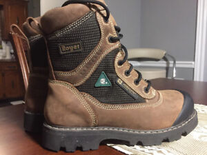 """ROYER 8"""" COMPOSITE TOE/PLATE WORK BOOTS SIZE 9"""