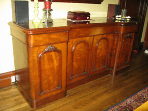 Victorian Mahogany Antique Sideboard/Cupboard and Mirror