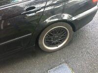 Bmw original bbs alloys wheels with tyres for sale 225/45/17 (e39 e46 e60 e36