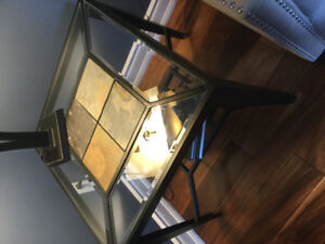 Beautiful glass/stone coffee table and end table