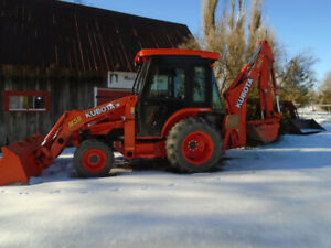 2016 M-59 Kubota Backhoe/loader with heated cab