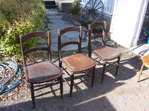 3 Antique Chairs For $65 Or $25 EACH