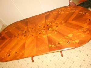 Exquistie Marquetry Extendable Dining Table. Dianella Stirling Area Preview