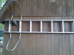 24 ft Aluminium Extension ladder with stand off arms